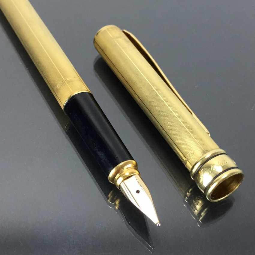 AURORA: cartridge filler / filler / Fountain Pen: Sterling silver, gold plated. Spring 585 / 14 K. Mint. - photo 3
