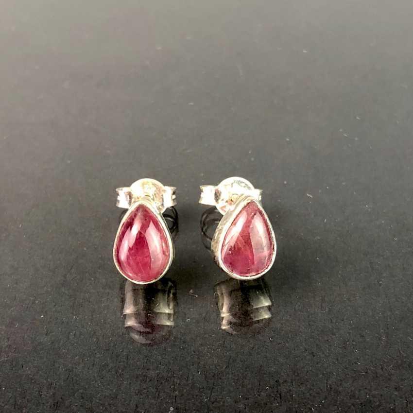 Earrings: tourmaline in silver. - photo 1