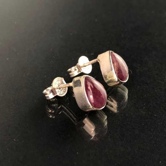 Earrings: tourmaline in silver. - photo 2