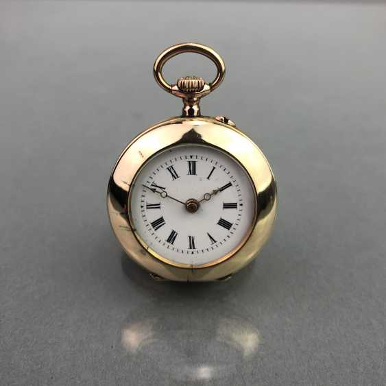 Large ladies pocket watch, Gold 585, cylinder escapement, circa 1900, very good - photo 1