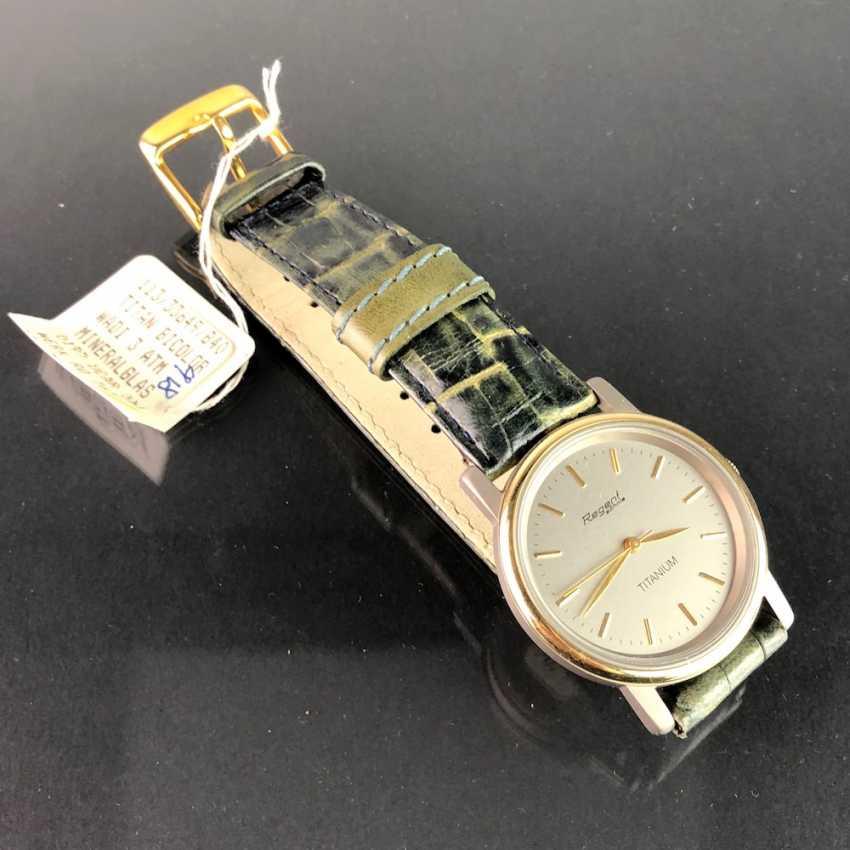 "Watch: ""REGENT Soehnle"". Leather bracelet, TITANIUM bicolor, mineral glass. Unworn, from a watchmaker's estate. Perfectly. - photo 2"