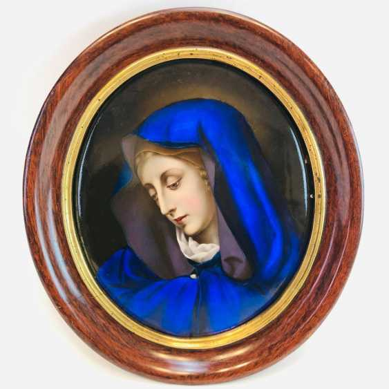 German artist: porcelain image, Biedermeier 1830, very nice. - photo 1