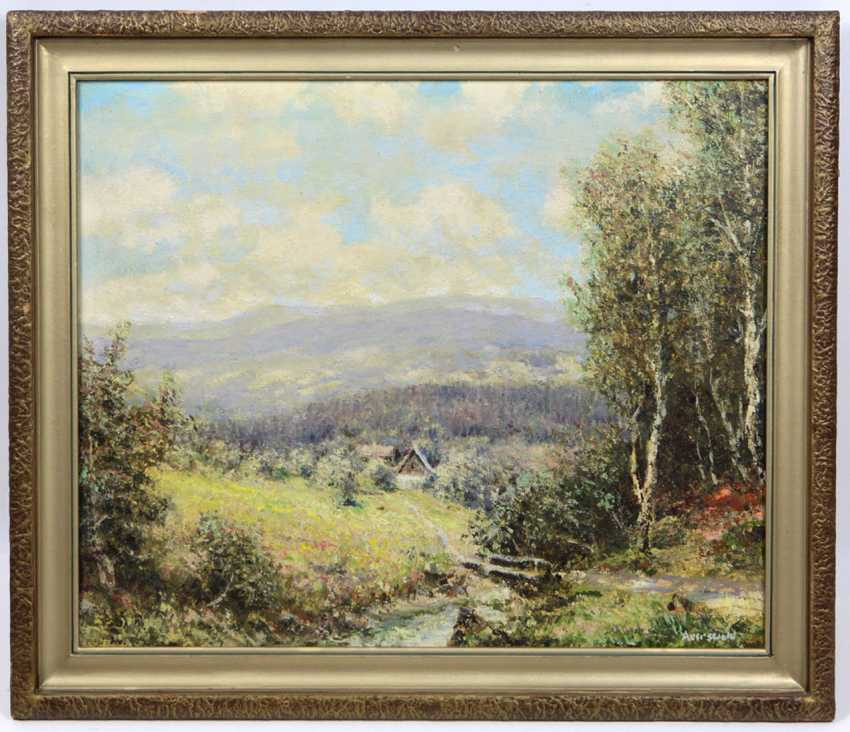 View of the ore mountains - Auerswald, Theodor Emil - photo 1