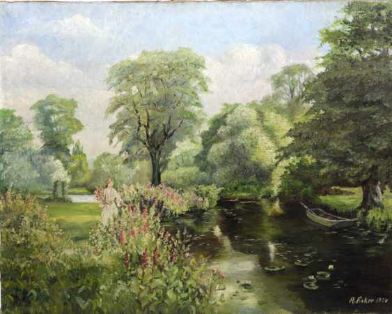 blooming scenery on its banks - Ficker, Richard - photo 1