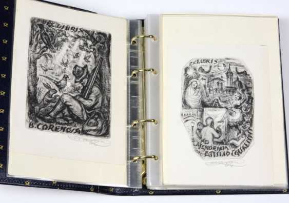 Small collection of 40 ex libris - photo 1
