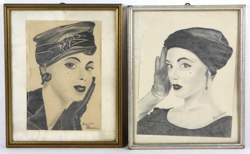 2 Damenportraits - Heede, Dagmar - photo 1