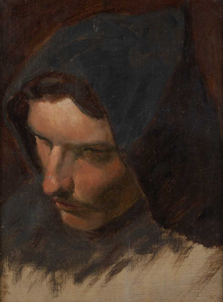 PAINTING head of a young man with a Landsknecht cloak (study) - photo 1
