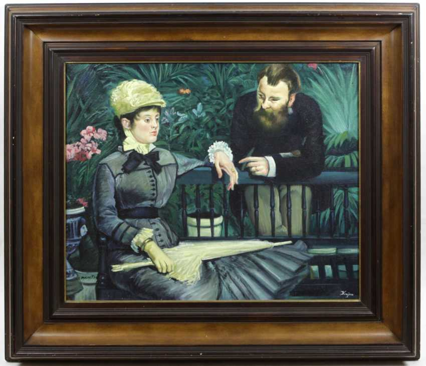 In the Conservatory by Manet - Kujau with certificate - photo 1