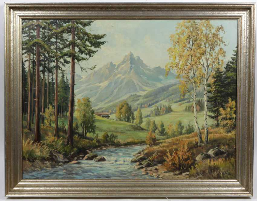 summer mountain landscape - monogrammed - photo 1