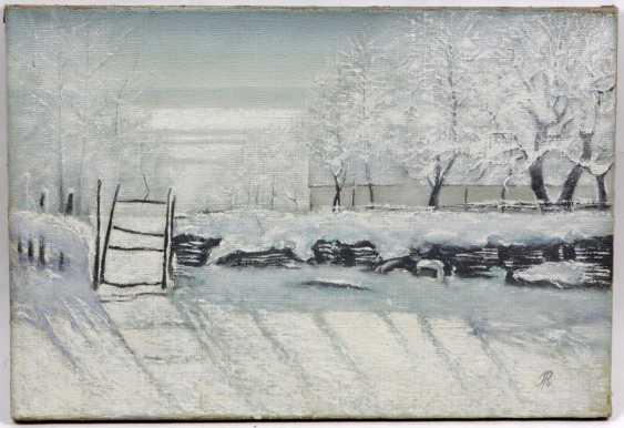 Winter landscape - monogrammed - photo 1