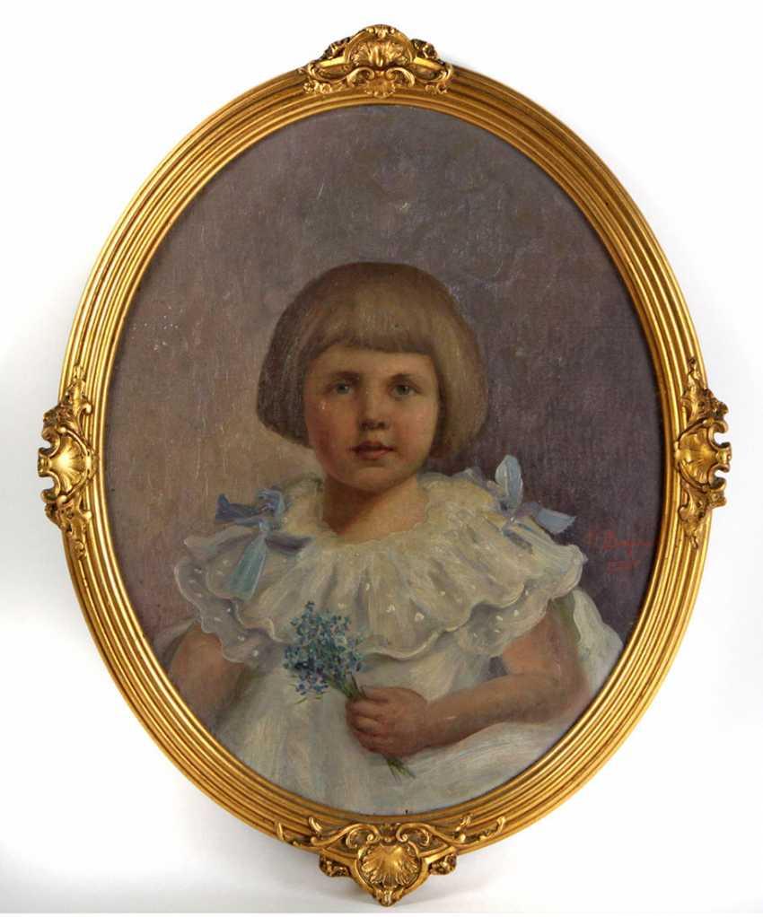 Children portrait-signed, 1925 - photo 1