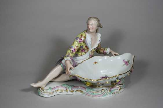 Pair of figurative Rococo porcelain dishes - photo 3