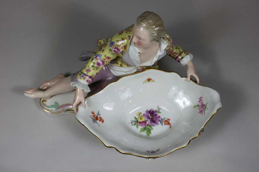Pair of figurative Rococo porcelain dishes - photo 5