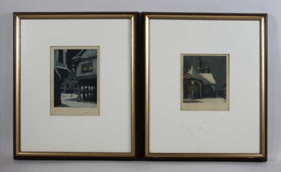 Lot of 2 color etchings - photo 1