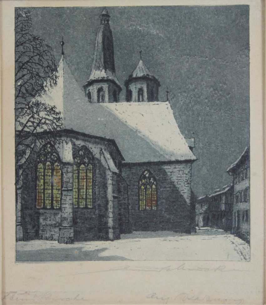Lot of 2 color etchings - photo 3