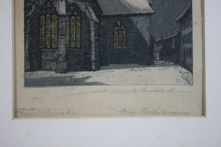 Lot of 2 color etchings - photo 4
