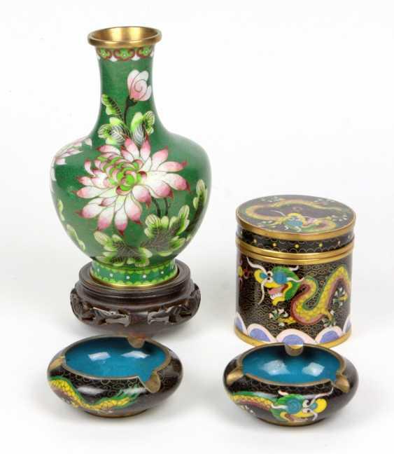 Cloisonne Rauchset u. Vase - photo 1