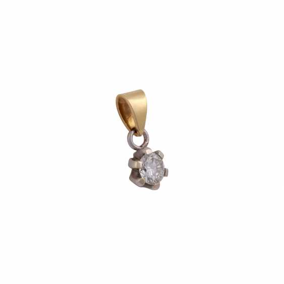 Solitaire pendant, set with diamonds approximately 0.3 ct, - photo 2