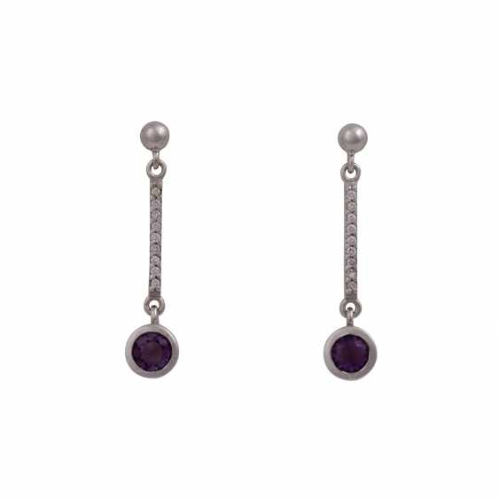 Vintage earrings: 1 Pair of earrings each with 1 diamond - photo 3