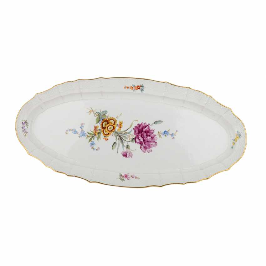 MEISSEN large fish plate, 1860-1924. - photo 1