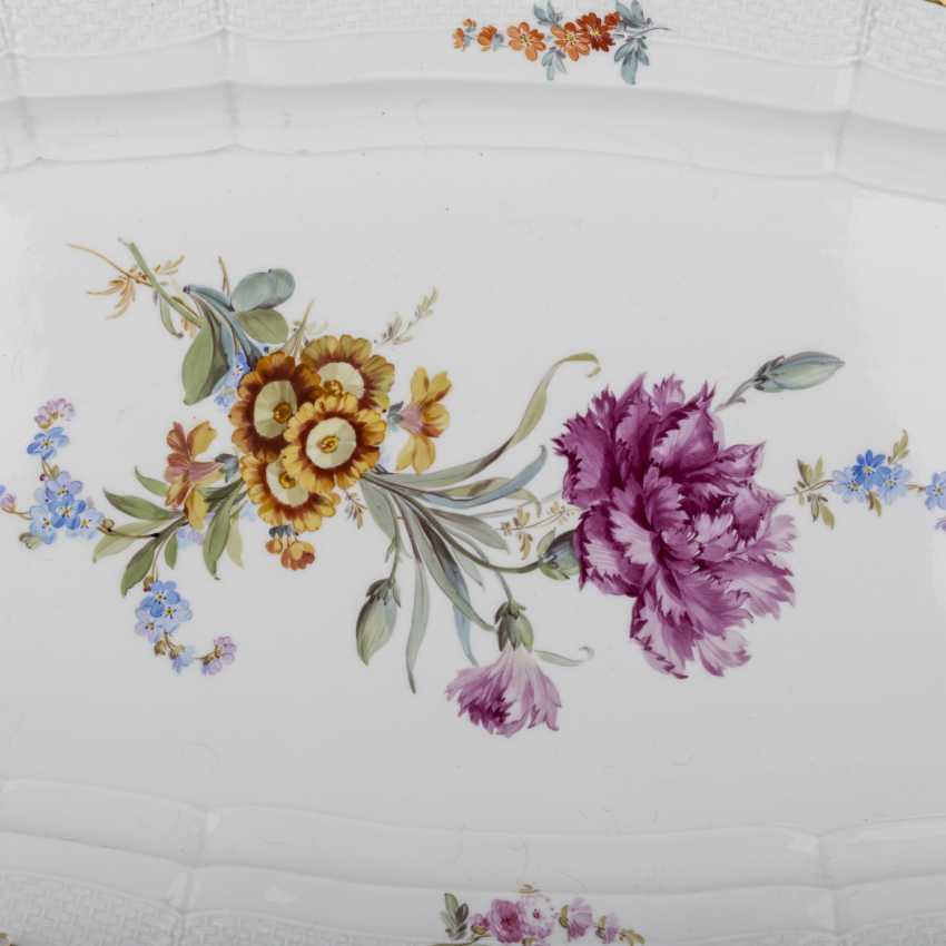 MEISSEN large fish plate, 1860-1924. - photo 2