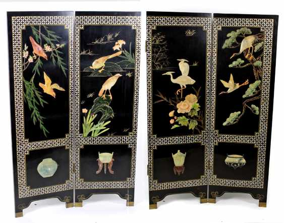 Folding screen with stone carving Japan - photo 1