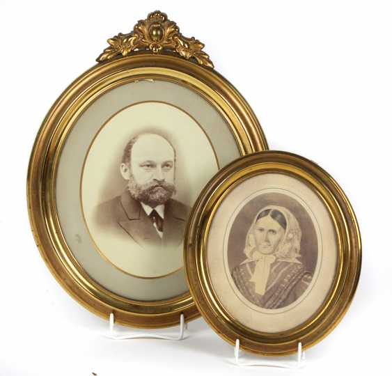 2 gold plated picture frame 1880 - photo 1