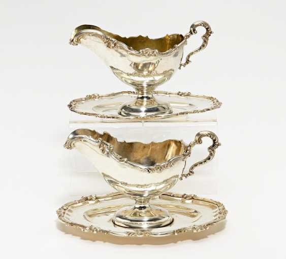 Pair of sauce boats on fixed set of style Rococo - photo 1