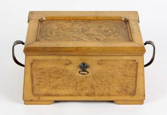 Art Nouveau wooden box 1900's - photo 1