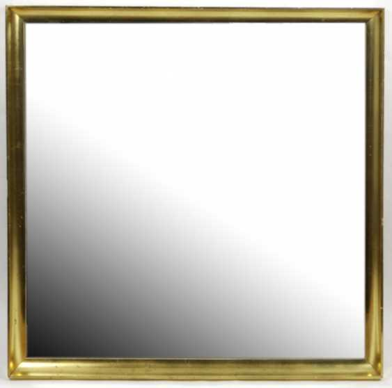 Mirror with gold frame - photo 1