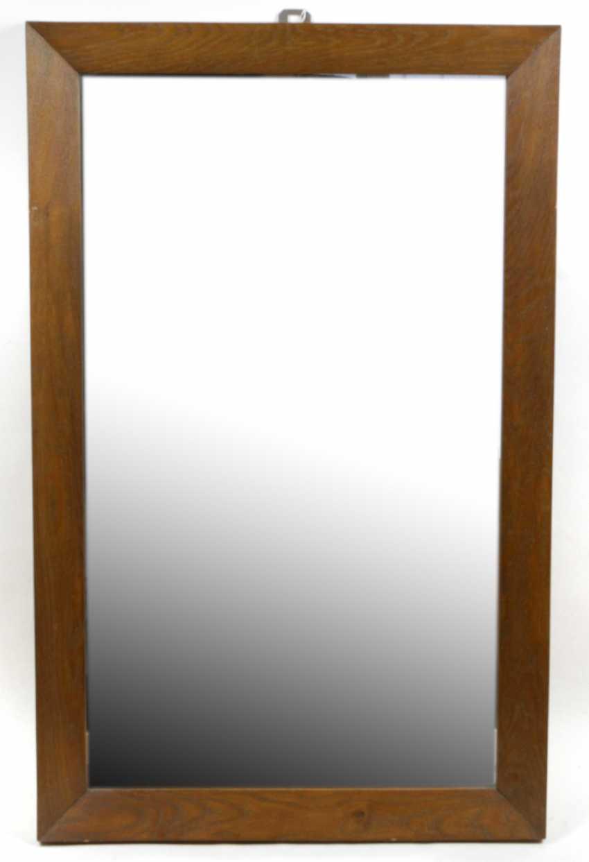 Mirror with oak frame - photo 1