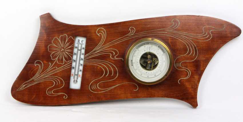 Art Nouveau style wall barometer, circa 1910 - photo 1