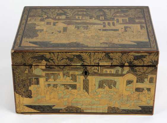 Asian lacquer box end of the 19th century. Century - photo 1