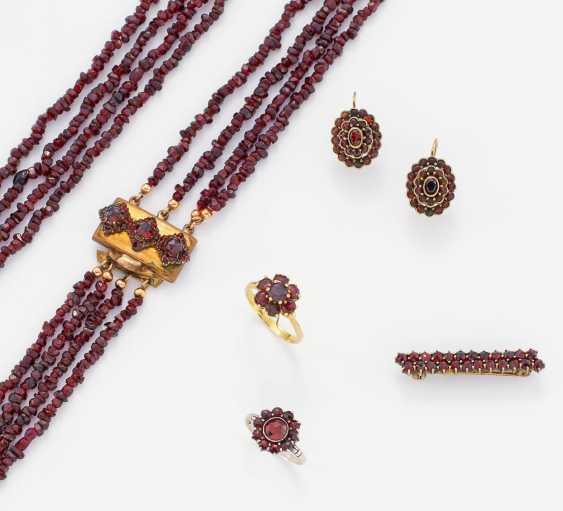 Group Of Garnet Jewelry - photo 1