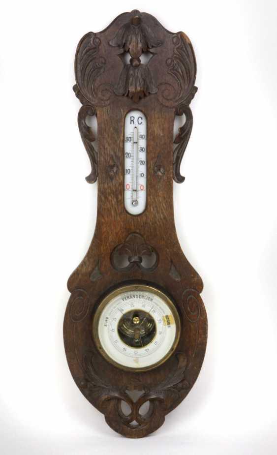 Art Nouveau style wall barometer, around 1900 - photo 1