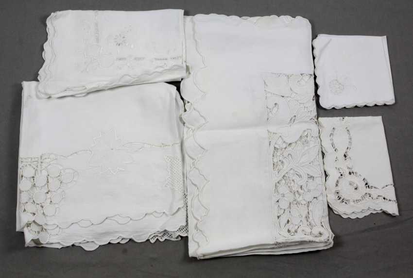 The Post Table Linen White Embroidery - photo 1