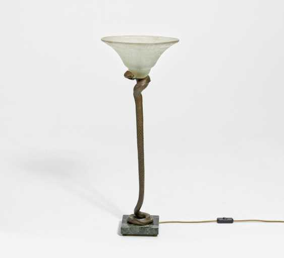 Auction Floor lamp with foot in the shape of a snake — buy