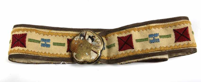 Japanese hand-embroidered belt - photo 1