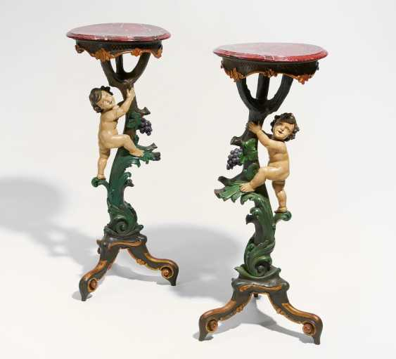 Pair of Gueridons with Puttenzier style Rococo - photo 1