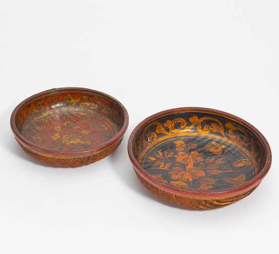 Two basket bowls with flower patterns - photo 1