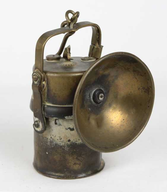 Karbidlampe Brass um 1920 - photo 1
