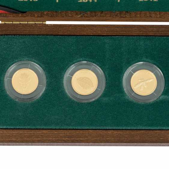 BRD/GOLD - Another complete Set of series of the German forest, - photo 2