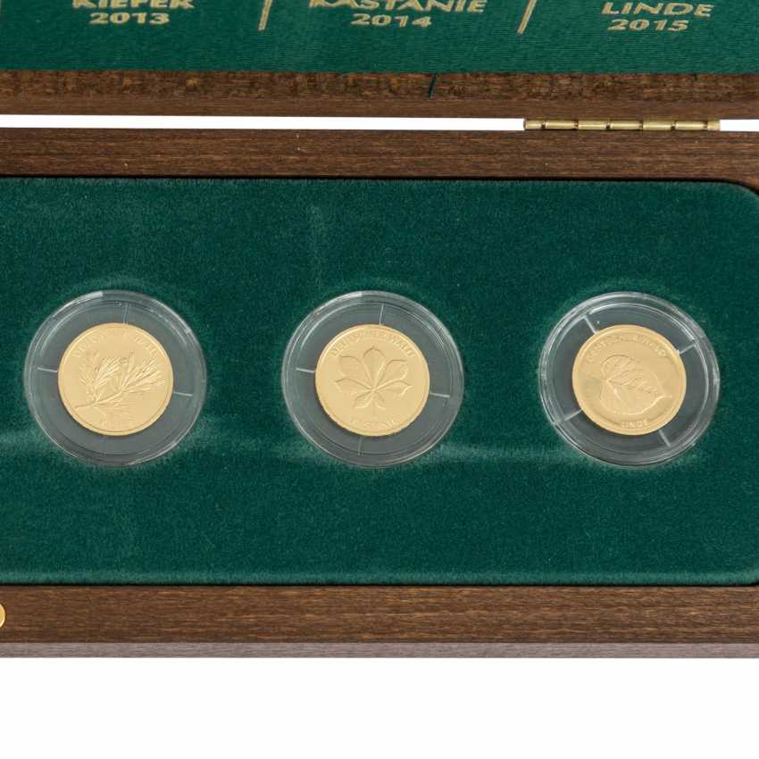 BRD/GOLD - Another complete Set of series of the German forest, - photo 3