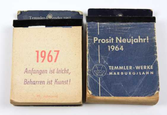 2 Calendar Temmler - Werke 1964/67 - photo 1