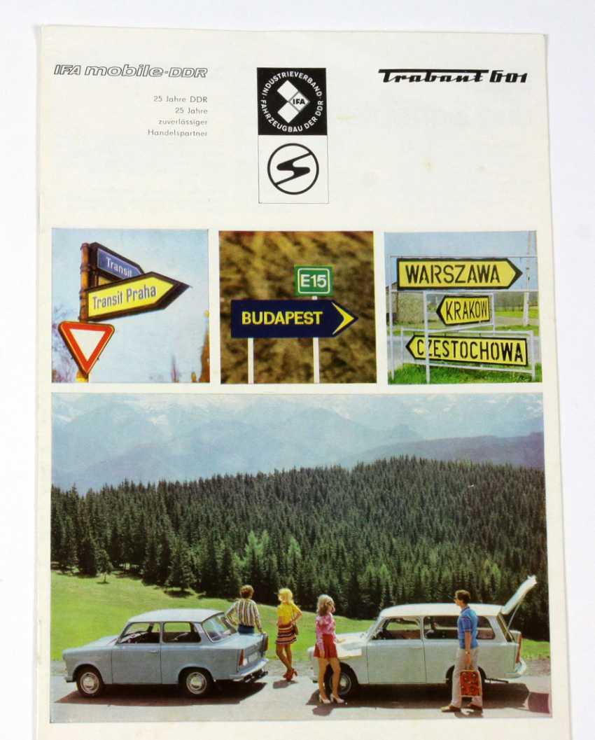 Trabant 601. Advertising brochure 1974  - photo 1