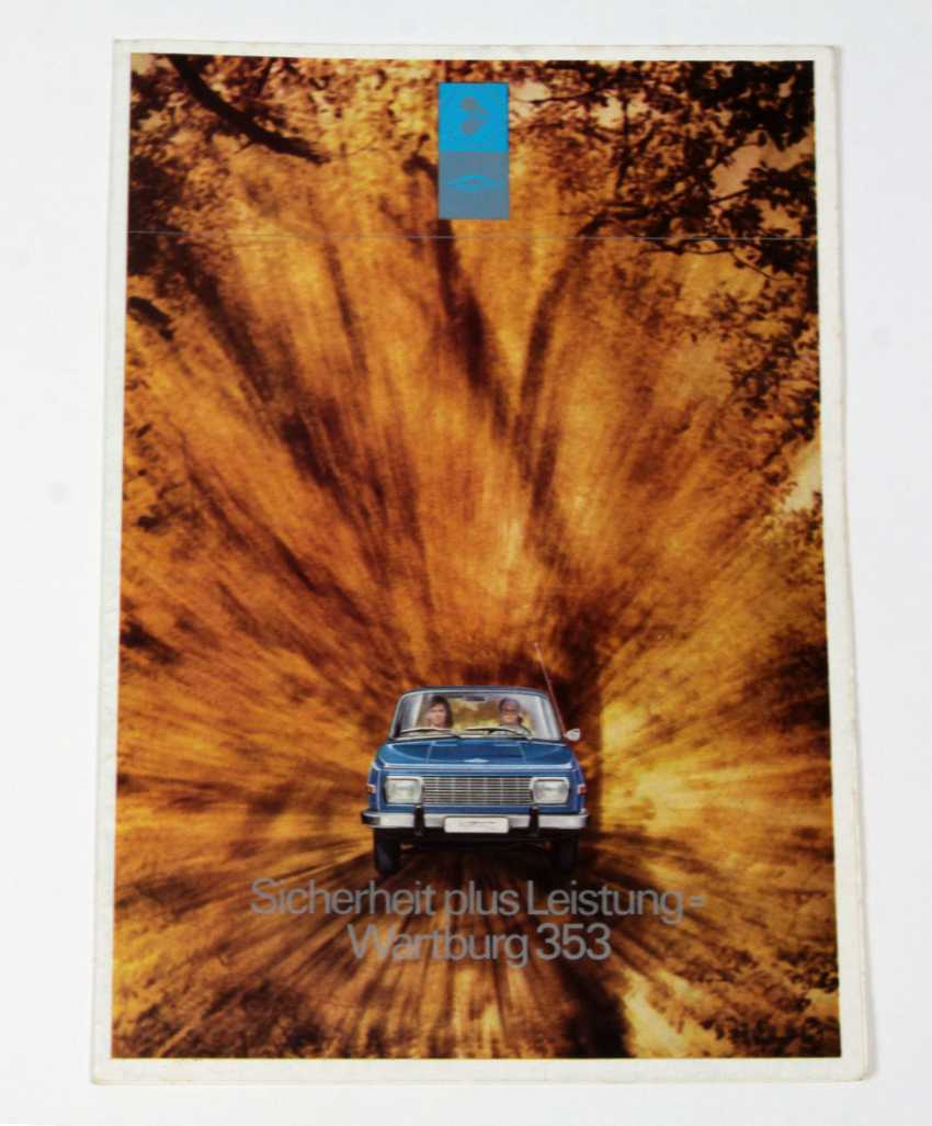 Плакат Wartburg 353 Рекламы. 1972 - фото 1