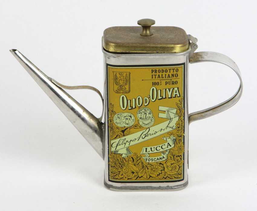 Werbekanne Toscana Olivenöl um 1930 - Foto 1