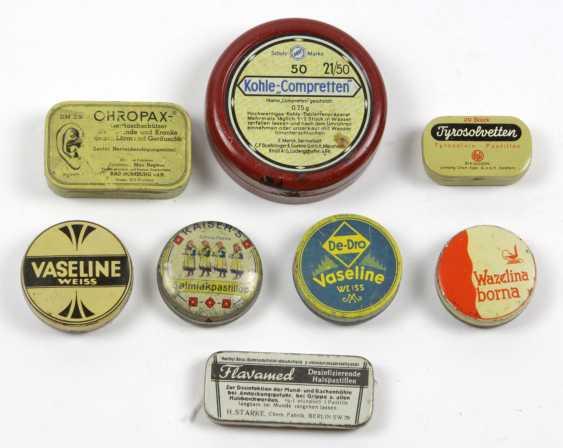 8 Advertising Tins Drugstore/ Pharmacy - photo 1