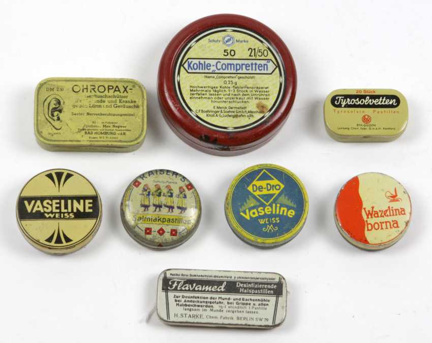 8 Advertising Tins Drugstore/ Pharmacy - photo 1