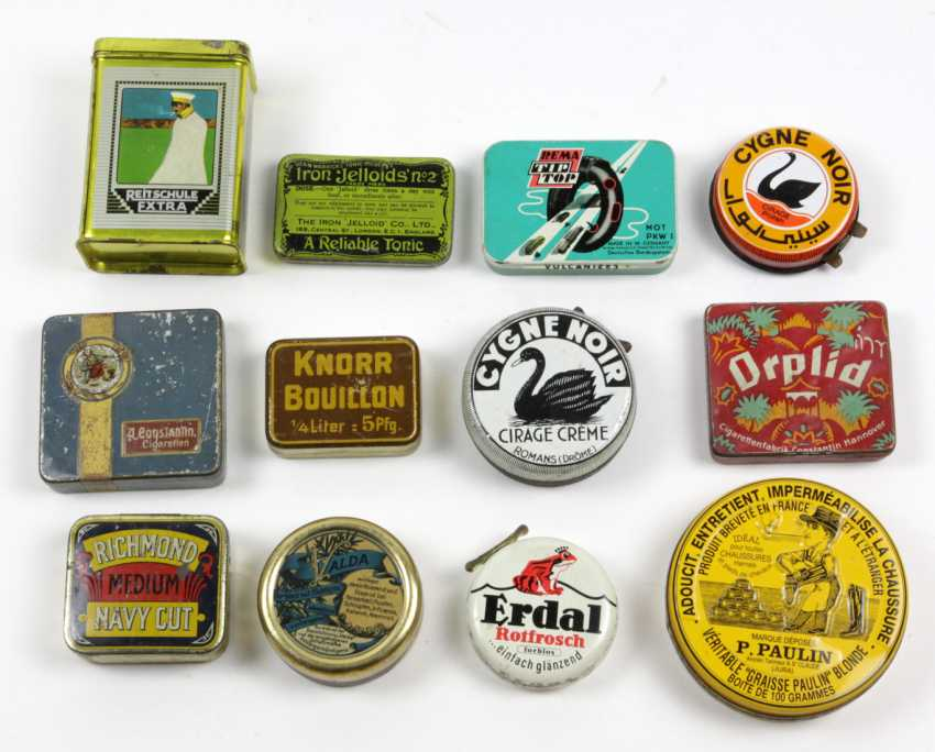12 Advertising Tins Drugstore/ Pharmacy - photo 1